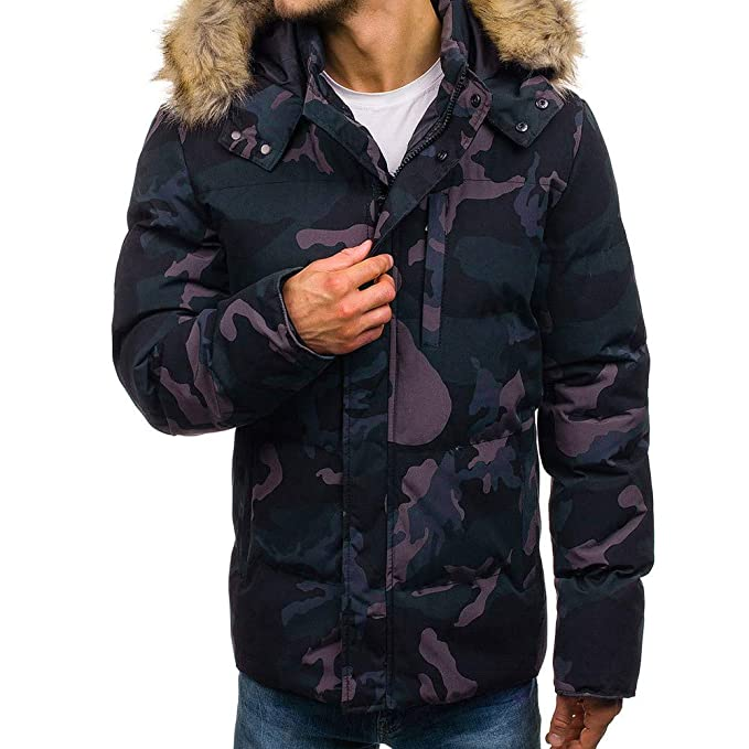 Chaqueta Gruesa de Invierno para Hombre, Abrigo con Capucha de Piel Gruesa de Internet: Amazon.es: Ropa y accesorios