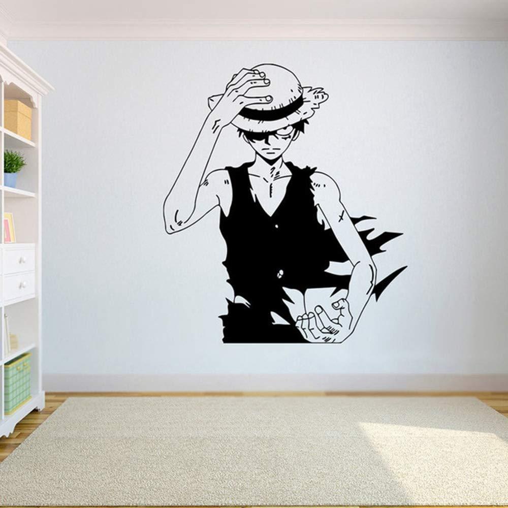 One Piece Luffy Vinilo Tatuajes de pared Anime Decoración para el ...