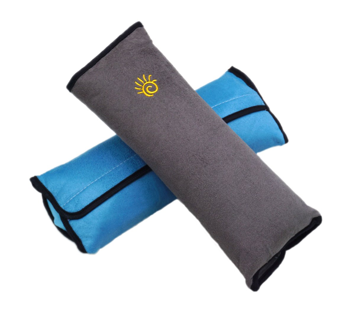 MountAir Children Seatbelt Pillow (2 Pack) -Universal Car Seat Belt Cushion Pillow with Adjustable Fit and Premium Support for Neck and Shoulder in the Car While Sleeping for Kids & Adults(Gray,Blue)