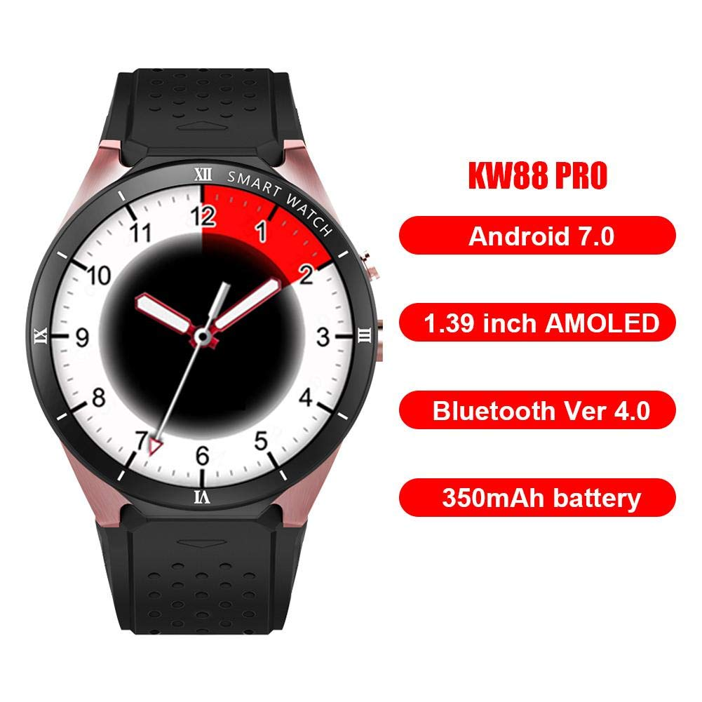 Chansted 3G Reloj Inteligente Teléfono KW88 Pro Android 7.0 ...