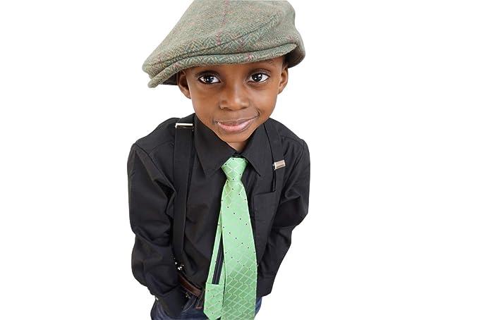Little Lids Boys Irish Green Wool Flat Scally Cap Kids Newsboy Ivy Hat ( Small) af1e81233c38
