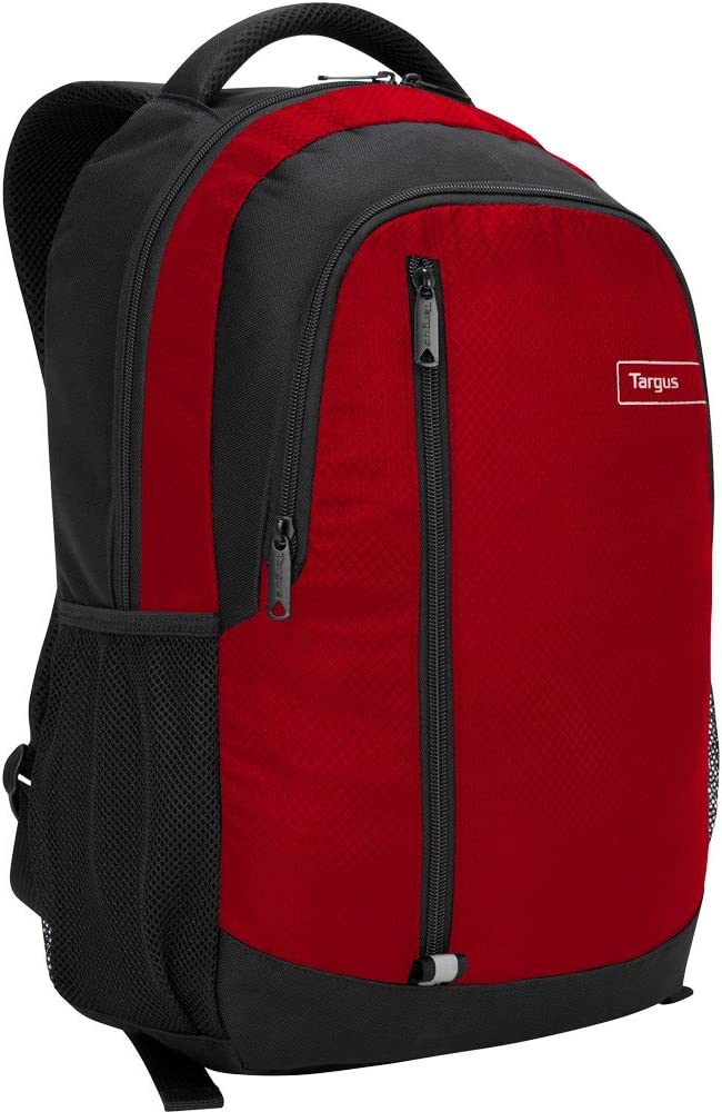 Targus Sport Commuter Backpack with Padded Laptop Compartment for 15.6-Inch Laptop, Red (TSB89103US)
