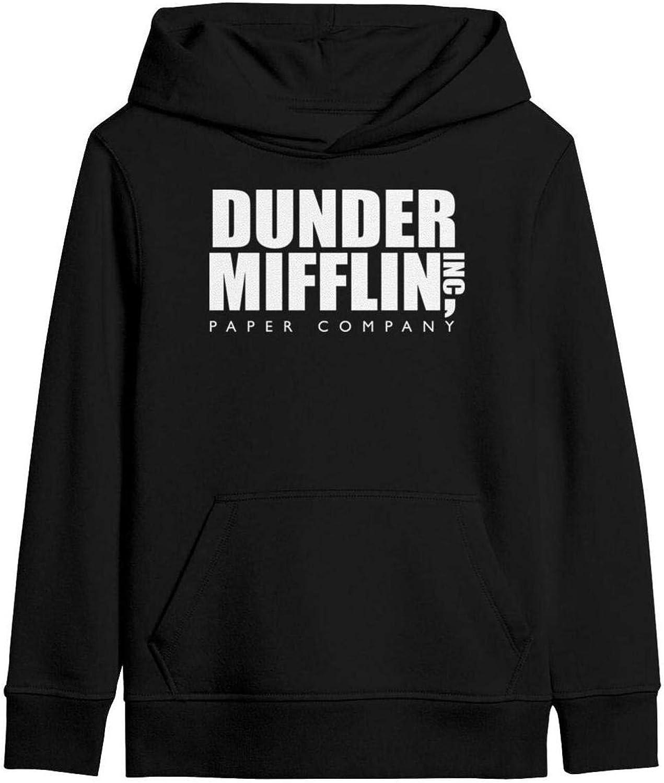 RTMCH51 Dunder-Mifflin-Logo- Boys Girls Crewneck Pullover Hoodies Hooded Sweatshirts with Pocket