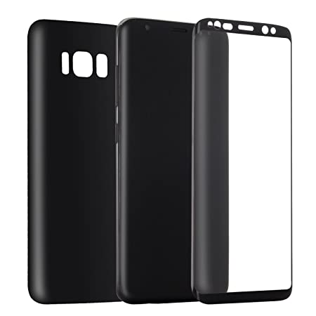 Wondrous PET Front  amp; Back Screen Protector Film for Samsung Galaxy S8 Plus   Black Mobile Accessories
