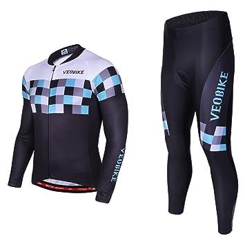 Asvert Malliot de Ciclismo Hombre 3D Cojín Conjunto ...
