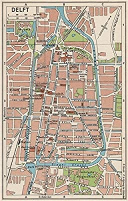 DELFT. Vintage town city map plan. Netherlands - 1961 - old map ...