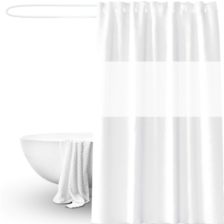 PVC Free Mold Mildew Free Chlorine Free Bath Curtains Pure white ONSON Shower Curtains 180 cm x 180 cm 100/% PEVA Waterproof Bathroom Curtains,