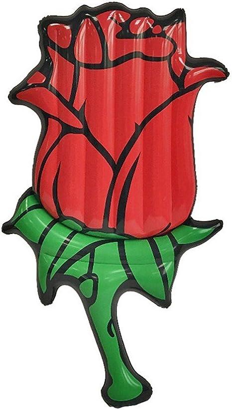 ZHANGJIANJUN 190 cm Hinchable Gigante Red Rose Piscina Flotante ...