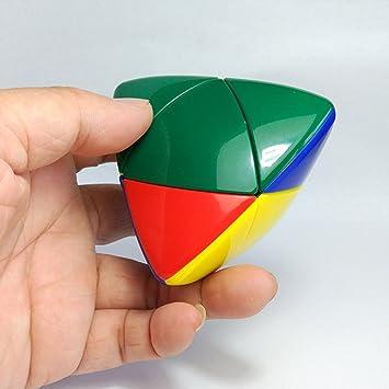 Fashionwu 22 Skewb Pocket Speed Cube Two Layers Tetrahedron Cubes Brain Teaser Puzzles