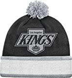 Los Angeles Kings Mitchell & Ness Vintage Jersey Stripe Cuffed Knit Hat
