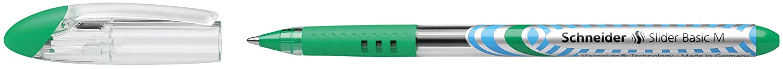 Schneider Slider Basic Kugelschreiber Kappenmodell mit Soft-Grip-Zone und der Strichst/ärke XB=Extrabreit, schwarz dokumentenecht 8er Etui sortiert