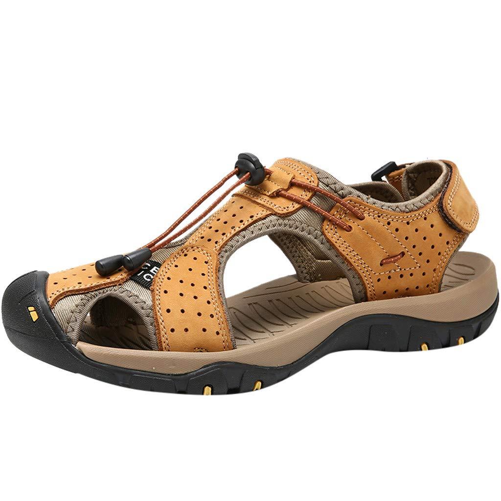 KIKOY Men's Sports Sandals Trail Outdoor Water Shoes Non-Slip Sandals Flats