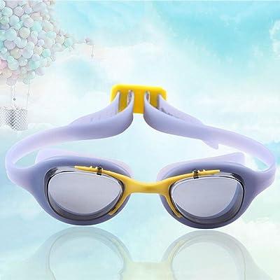 étanche anti-buée modèles masculins et féminins de l'adolescence lunettes de natation de lunettes pour enfants , a