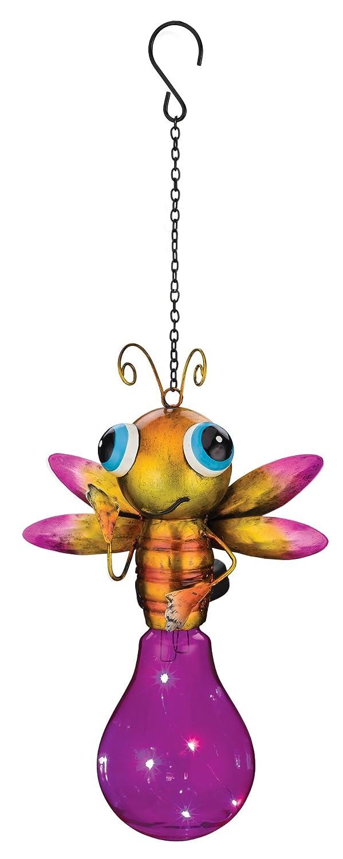 Regal Art & Gift Solar Firefly Lantern, Pink 11255
