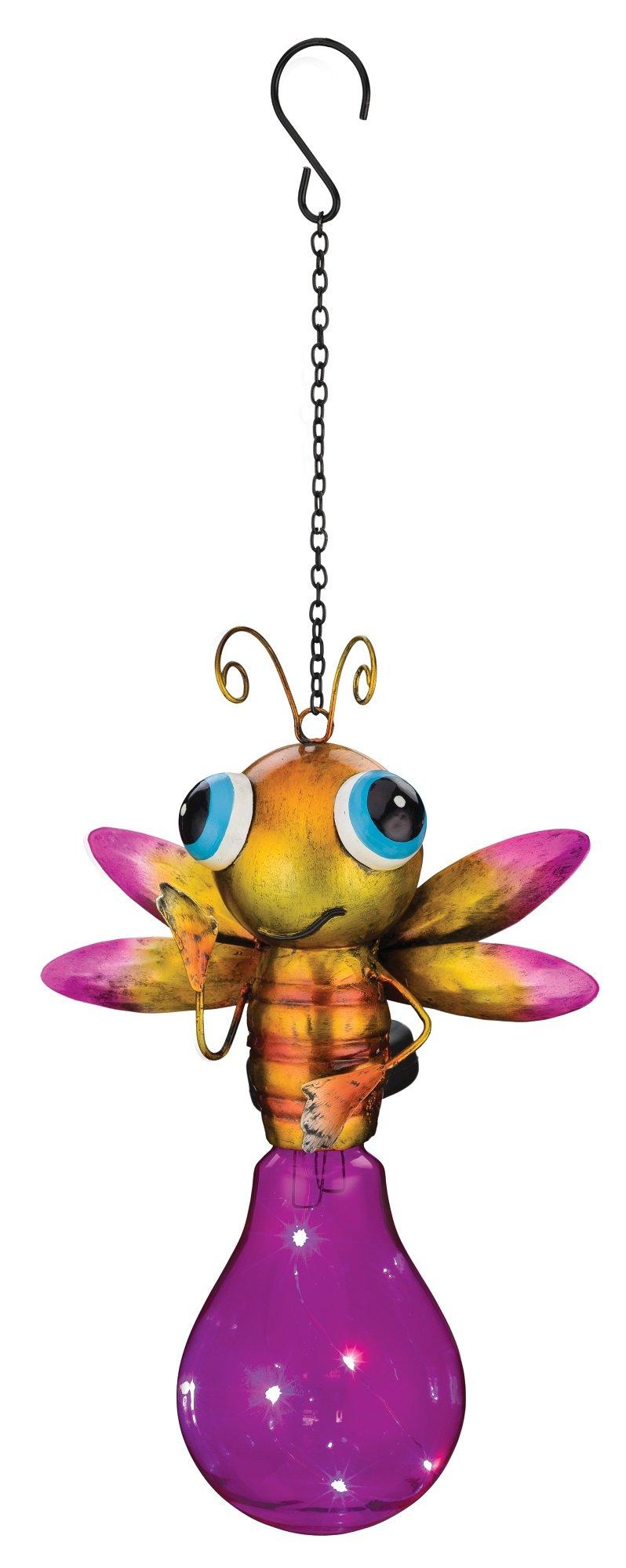 Regal Art & Gift Solar Firefly Lantern, Pink