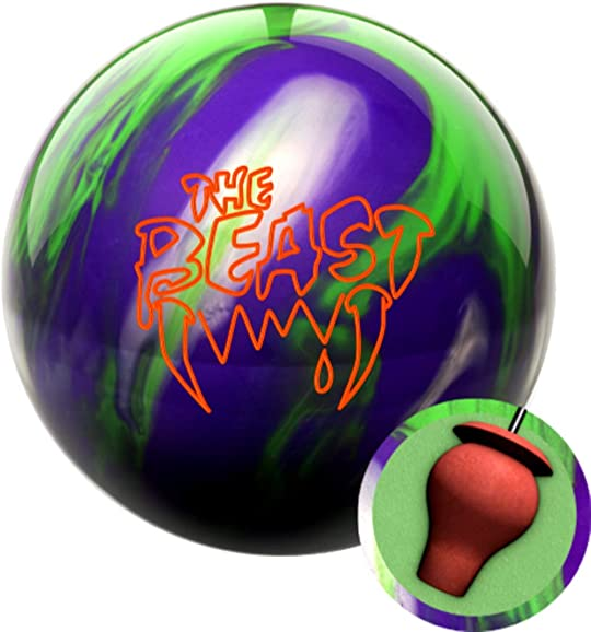 Columbia 300 Beast Purple Lime Silver Bowling Ball