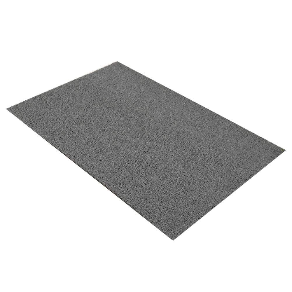 玄関マット屋内/屋外、エントランスチャンネルPVC滑り止めバッキングフロアマット洗浄可能正面玄関、裏口、廊下、キッチン、オフィス、ガレージに最適-60×180センチメートル(24×71インチ)-グレー B07QSR9CNB グレー 60×180センチメートル(24×71インチ)