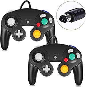Gamecube Controller, Classic Wired Controller for Wii Nintendo Gamecube (Black-2Pack)