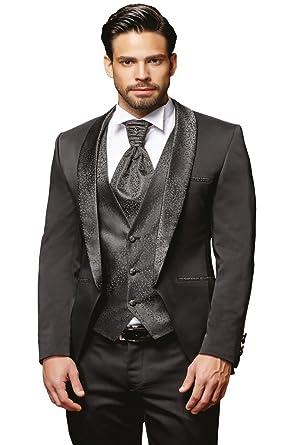 low priced 7498b b35a3 Herren Anzug - 8 teilig - Schwarz Hochzeitsanzug TOP ANGEBOT ...