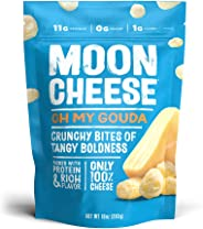 Moon Cheese Oh My Gouda, 100% Gouda Cheese Snacks, Crunchy Keto Food, Low Carb, High Protein, 10 oz.