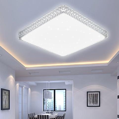 VINGO® 60W LED Kristall Deckenleuchte Sternenhimmel Kaltweiß ...