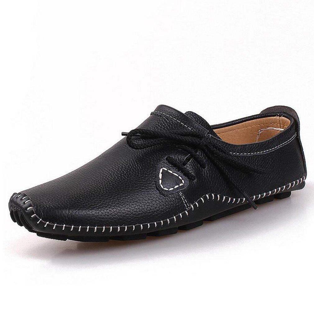 YAN Herrenschuhe Moccasins, Lässige Loafers Echte Leder Atmungsaktive Spring & Fall Fashion Slip Auf Fahr Schuhen, A,39