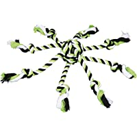 Trixie Denta zabawna lina zabawka z tkaną piłką dla psa, 44 x 7 cm (kolor: może się różnić)