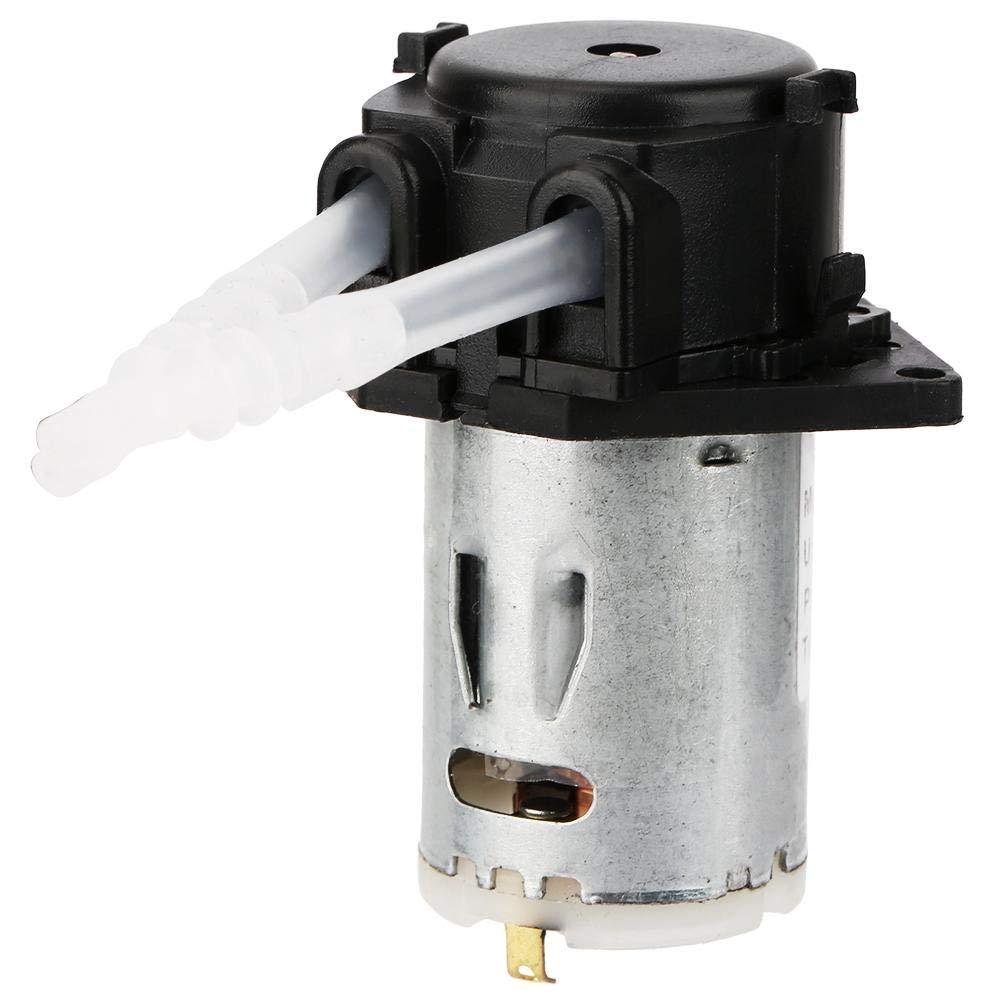 Keenso Bomba peristáltica 24 V 3 * 5 Micro bomba dosificadora automática Cabeza de tubo peristáltico DIY para el laboratorio de análisis químico(negro)