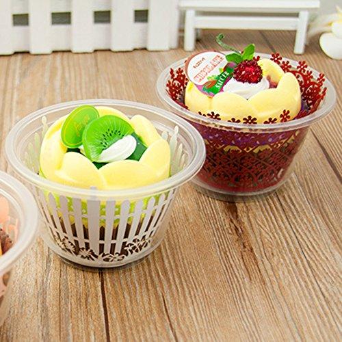 4oz Clear Plastic Cupcake Food Sampling Snack Dessert Cup (200)