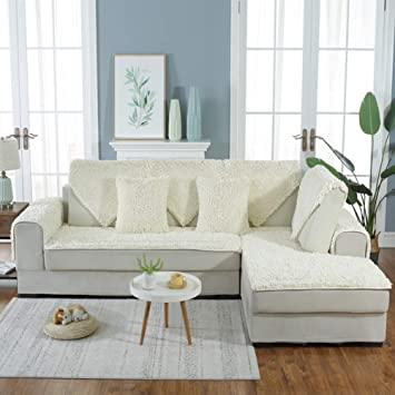 Awe Inspiring Amazon Com Svio Sofacover Plush Cream White Sofa Covers Gmtry Best Dining Table And Chair Ideas Images Gmtryco