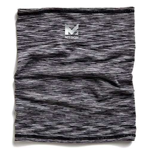 (Mission HydroActive Fitness Multi-Cool Neck Gaiter and Headband, Space Dye Charcoal, One)