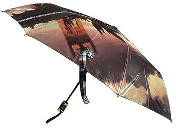 Big Ben de Londres AUTO plegable abrir y cerrar paraguas, lujo paraguas a prueba de