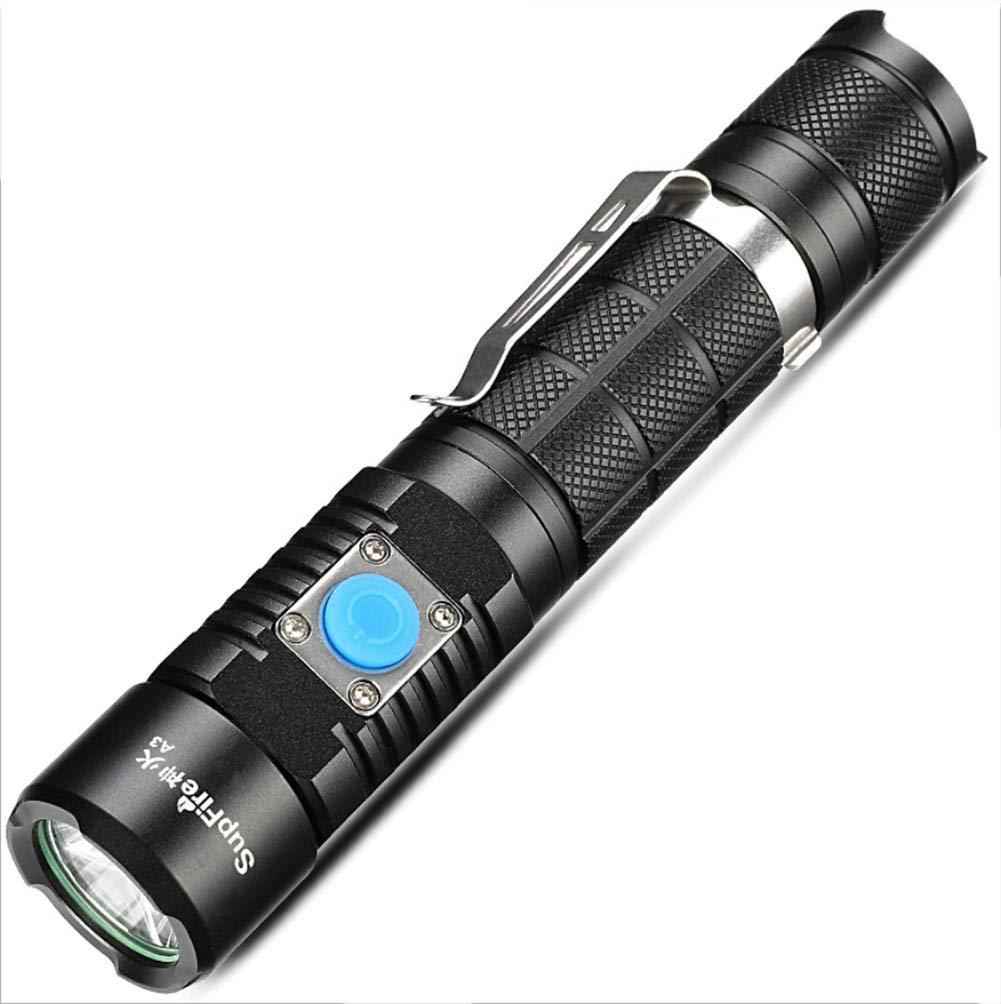 J.Horizon Linterna LED CREE 5 Modos Linterna De Mano Super Brillante 1100 Lú menes Linternas Antorcha Impermeable Recargable USB para Senderismo Ciclismo Camping Al Aire Libre