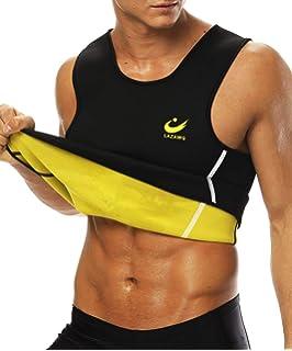 Baijiaye Mens Sauna Vest Neoprene Zipper Compression Sweat Vest Sweat Slimming Corset Thermal Tank Top