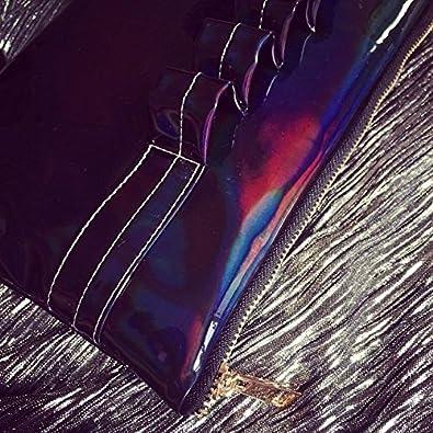 Zarapack Womens Hologram Leatherette Clutch Handbag