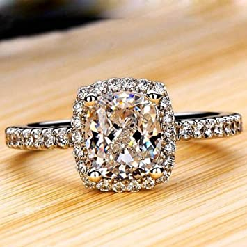 Amazon Com New Exquisite Fashion Jewelry Rose Gold Square Austrian