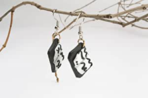 """Earrings made of polymer clay """"Books"""""""