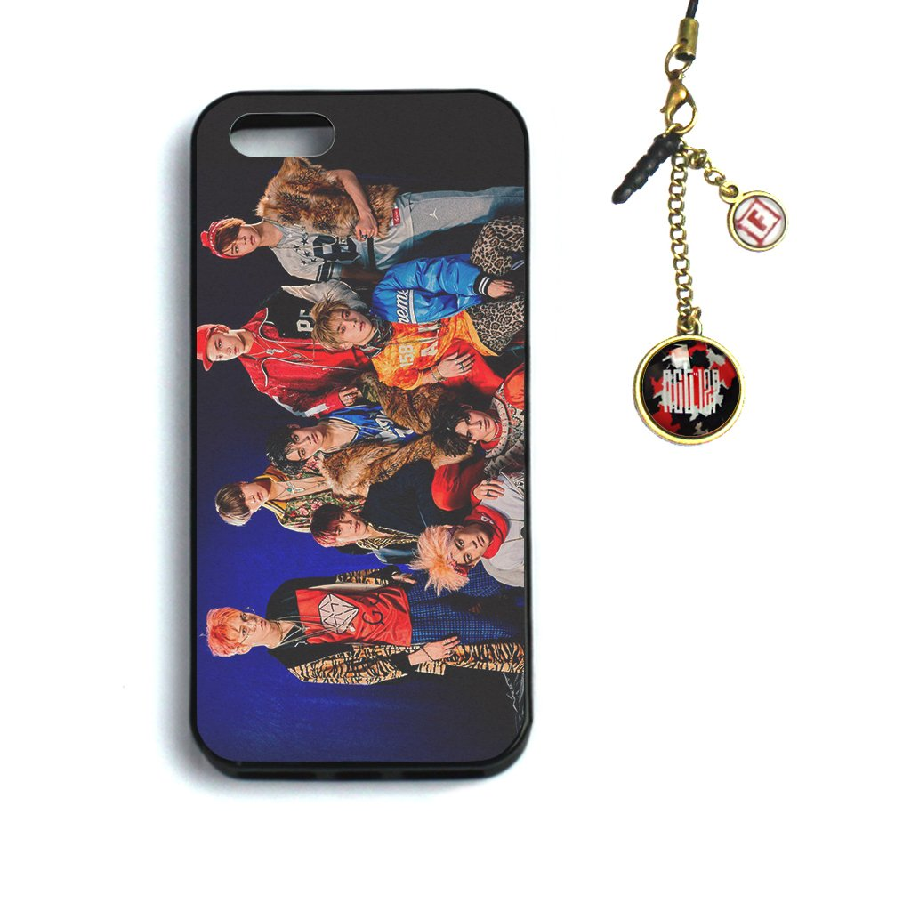 Fanstown KPOP iphone5/5s PENTAGON Day6 TWICE case + Dust plug charm NCT 127-2