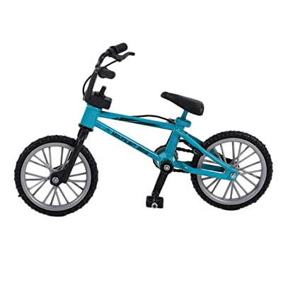 Detectorcatty Mini Size Simulation Alloy Finger Bike Children Kid Funnt Mini Finger Bike Toy with Brake Rope Best Birthday Gift: Toys & Games