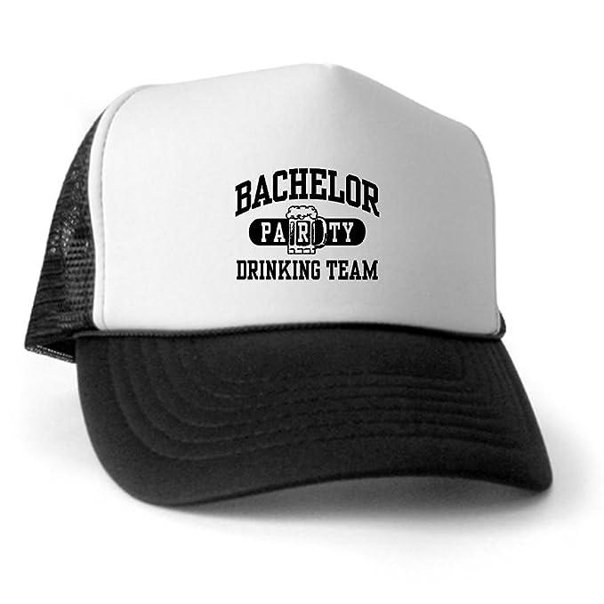 74e58a44a2e94 Amazon.com  CafePress - Bachelor Party Drinking Team Trucker Hat ...