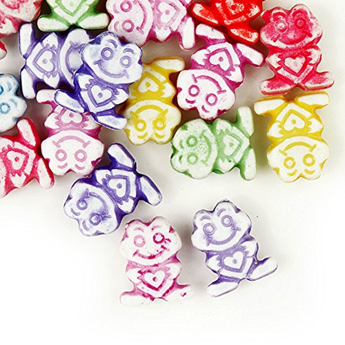 30g Acrylic Animal Beads Color Assorted Center Drilled Style Antique Size 10x9.5x3.5mm Hole Size 1.5mm