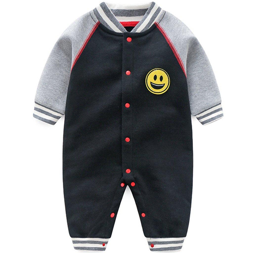 Neonato Pagliaccetti in Cotone Jumpsuit Manica Lunga Denso Tutine 0-3 Mesi Ltd