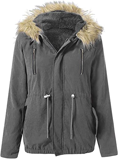 NOMUSING Sweatshirts for Women Hoodie Pullover Plus Size Long Sleeve Parka Outwear Fox Fur Coat Fashion Tunic Outerwear
