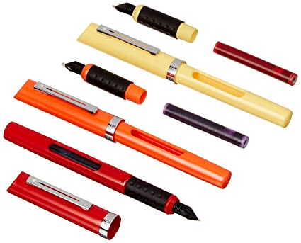 Sheaffer - Juego para caligrafía (incluye 3 plumillas de distinto tamaño, 3 plumas estilográficas y 14 cartuchos de tinta de varios colores)
