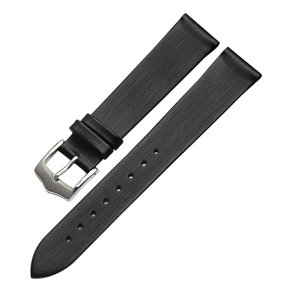 Black Genuine Leather Thin Silky Watch Bands Straps Replacement Classy Look 10mm for Girls