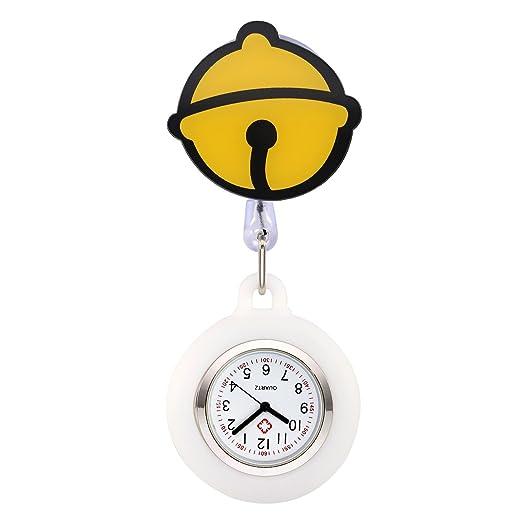 jsdde Enfermera Reloj Pulso Reloj Nurse Watch Bata Reloj Silicona Dibujos Animados Reloj de Bolsillo Enfermera con Clip # 9: Amazon.es: Relojes