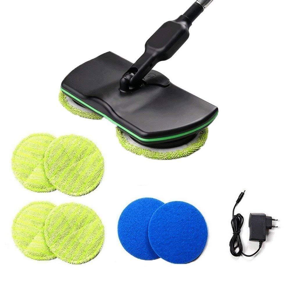 Drahtlose Elektrische Wischmopp Reinigung Handheld Spinnmop Wiederaufladbare Angetriebene Bodenreiniger Wä scher Mit 4 Stü cke Gelbe Pad 2 Stü ck Blaue Pad Super Maid