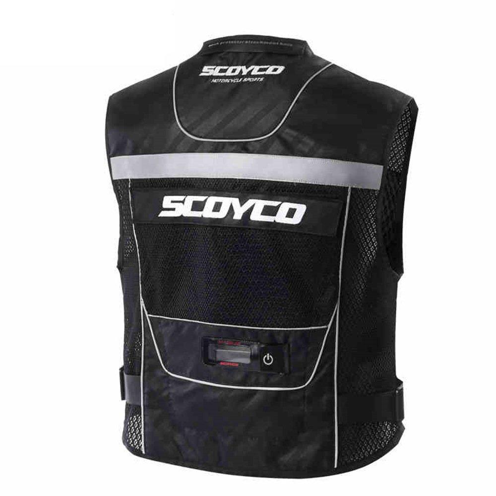 Scoyco JK46 Men's Motorcycle Auto Racing Vest (XL, Black) by SCOYCO (Image #2)