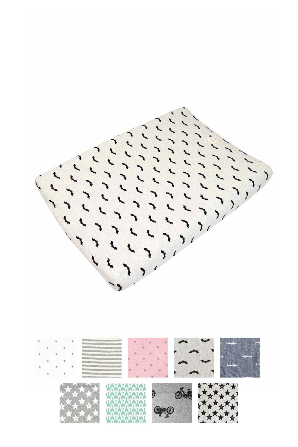 Breathable and Soft Fundas BCN F11-0399- Cotton Changing Mat Cover 70x50 cm Elastic and Adaptable Lucky Swallow Print