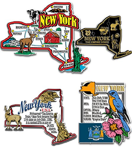 New York State Magnet Set (Refrigerator Magnet New York)